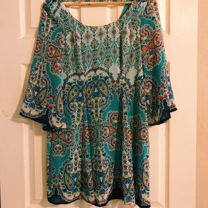 FLOWY PRINTED DRESS